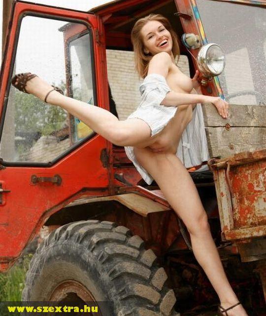Traktoros lány