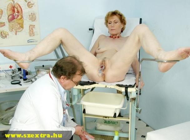 Nõgyógyásznál, vizsgálaton