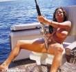 Horgászlány szereti a botot